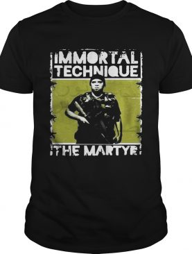 Immortal technique The Martyr shirt