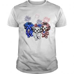 Guys Independence day 4th of July Shih Tzu beauty America flag shirt