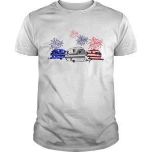 Guys Independence day 4th of July camping beauty America flag shirt