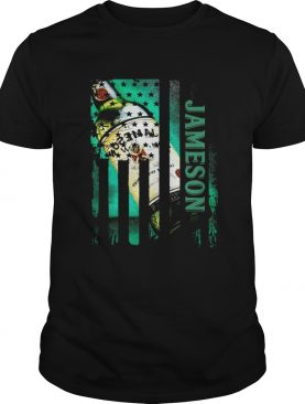 Jameson whisky Independence Day American flag shirt