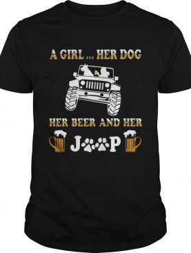 Jeep a holic A girl her dog and her Jeep shirt