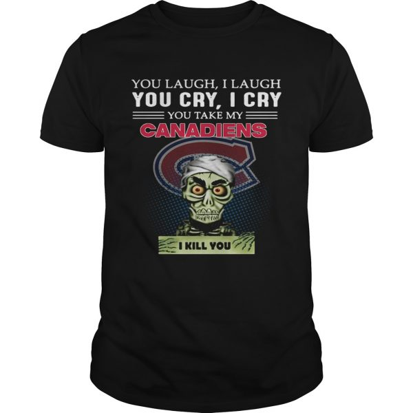 Guys Jeff Dunham Achmed the Dead Terrorist laugh cry Montreal Canadiens I kill you shirt