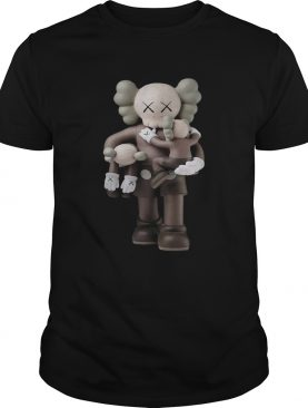 Kaws Clean Slate Vinyl Figure Brown shirt