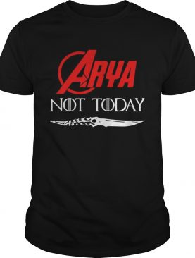 Marvel Arya Stark not today GOT shirt