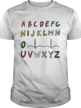 Nurse Alphabet heartbeat shirt