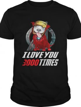 Pitbull I love you 3000 times Marvel Avengers Endgame shirt
