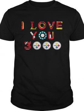 Pittsburgh Steelers Iron Man I love you 3000 thousand times shirt