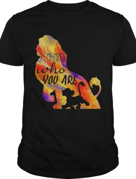Simba remember who you are lion king t-shirt