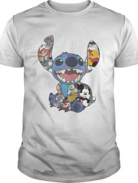 Stitch And Disney Characters T-shirt