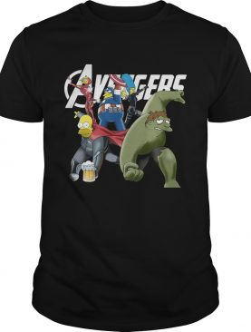 The Simpsons Marvel Avengers Endgame shirt