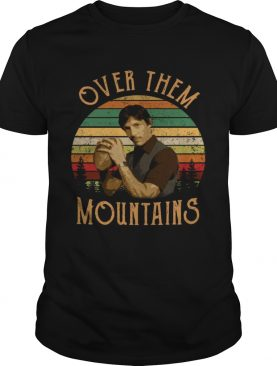 Uncle Rico Over them mountains vintage retro sunset shirt