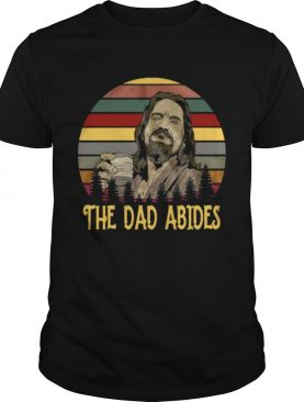 Vintage Big Lebowski the dad abides t-shirt