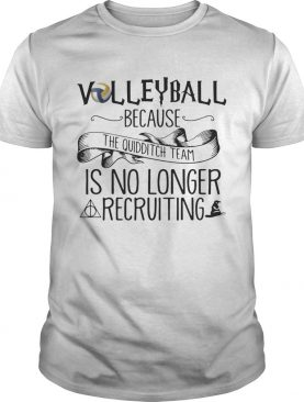 Volleyball Because Quidditch Team Is No Longer Recruiting T-shirt