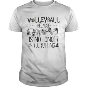 Guys Volleyball Because Quidditch Team Is No Longer Recruiting Tshirt