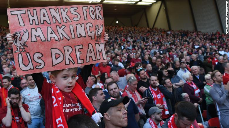 Liverpool fans watch on with hope at Anfield
