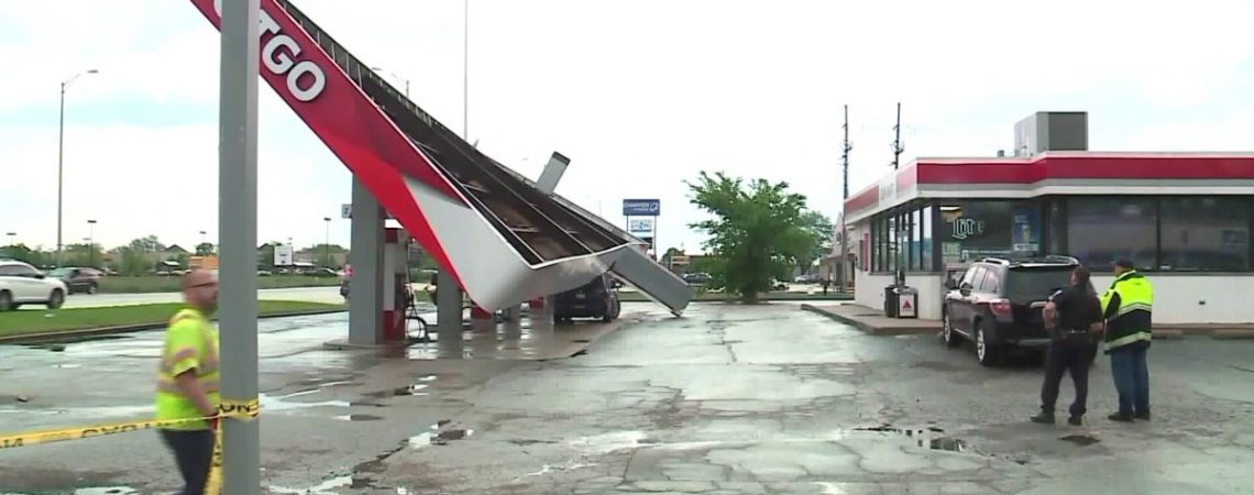 Memorial Day storms bring winds hail and damage