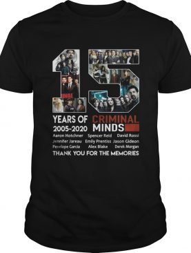 15 years of Criminal Minds 20052020 thank you for the memories shirt