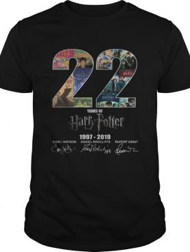 22 years of Harry Potter 19972019 signature shirt