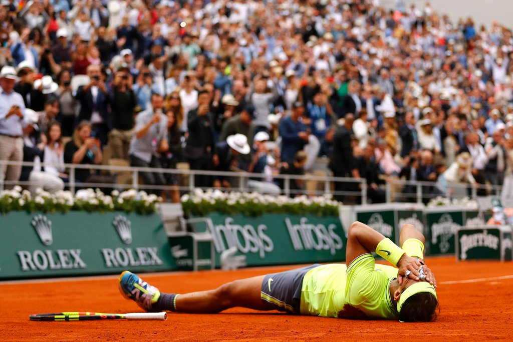 After the match was over, Nadal was undeniably a man on his element.