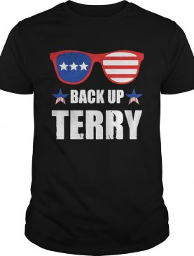Back up Terry American Flag USA 4th Of July shirt