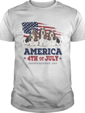 Basset Hound America 4th of July Independence Day shirt