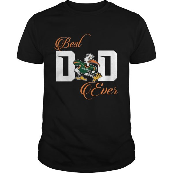 Best Miami Hurricanes Dad Ever Football T Unisex