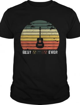 Best guitar ever vintage sunset shirt