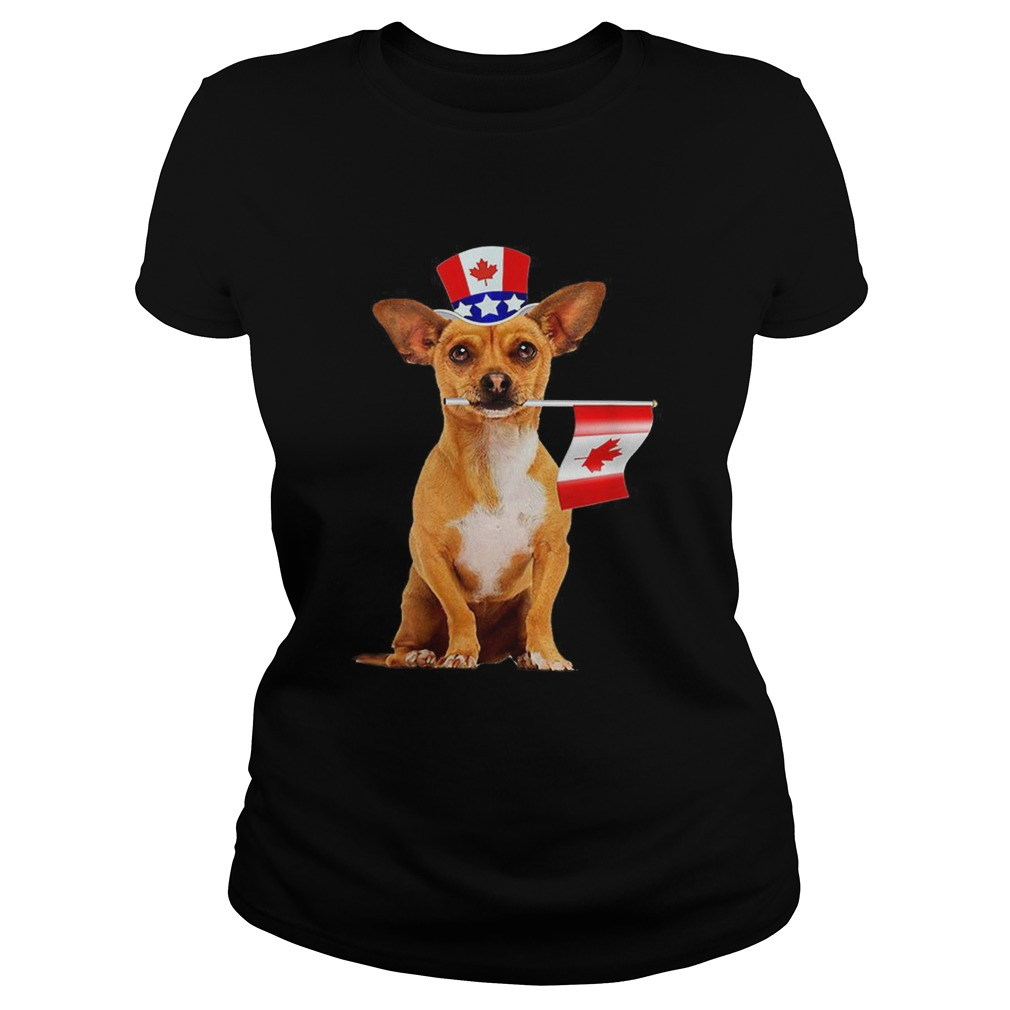 CanadaMaple Leaf Chihuahua Canadian Flags Classic Ladies