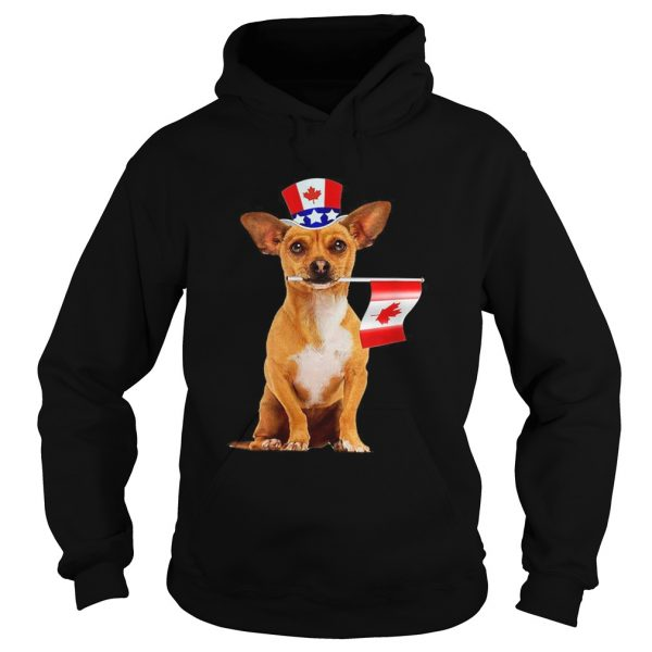 CanadaMaple Leaf Chihuahua Canadian Flags  Hoodie