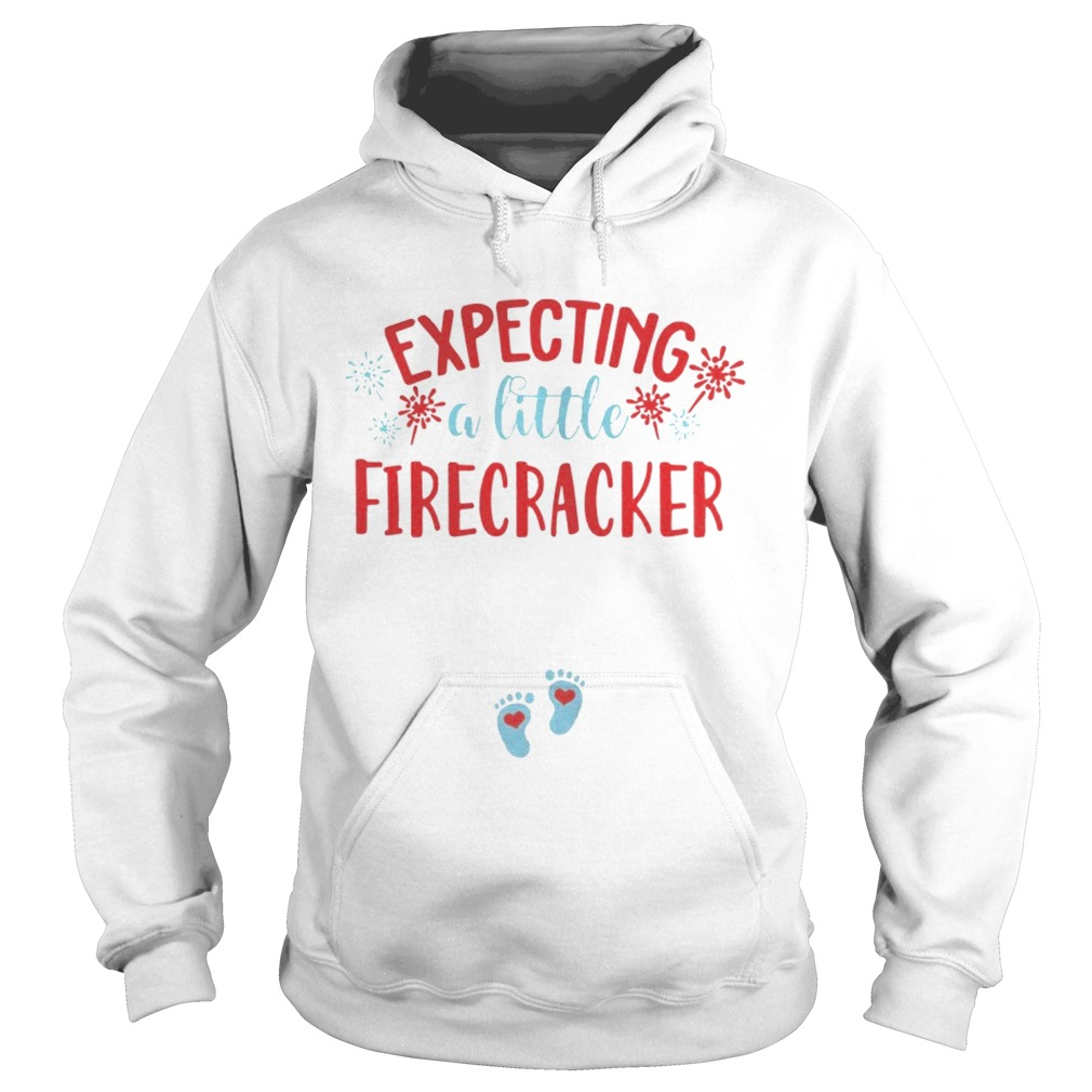 Expecting A Little Firecracker Funny Pregnancy Announcement 4th TShirt Hoodie