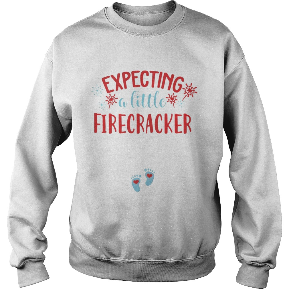 Expecting A Little Firecracker Funny Pregnancy Announcement 4th TShirt Sweatshirt