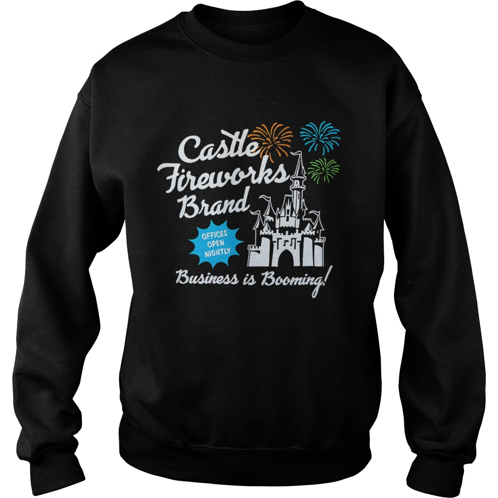 Fantasyland Castle fireworks brand business is booming Sweatshirt
