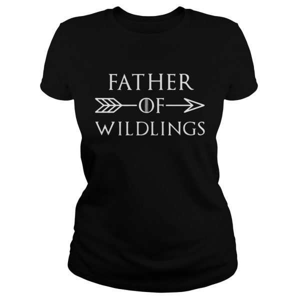 Fathers Day Gift T Dad Of Wildlings Personalization Kids Names t  Classic Ladies