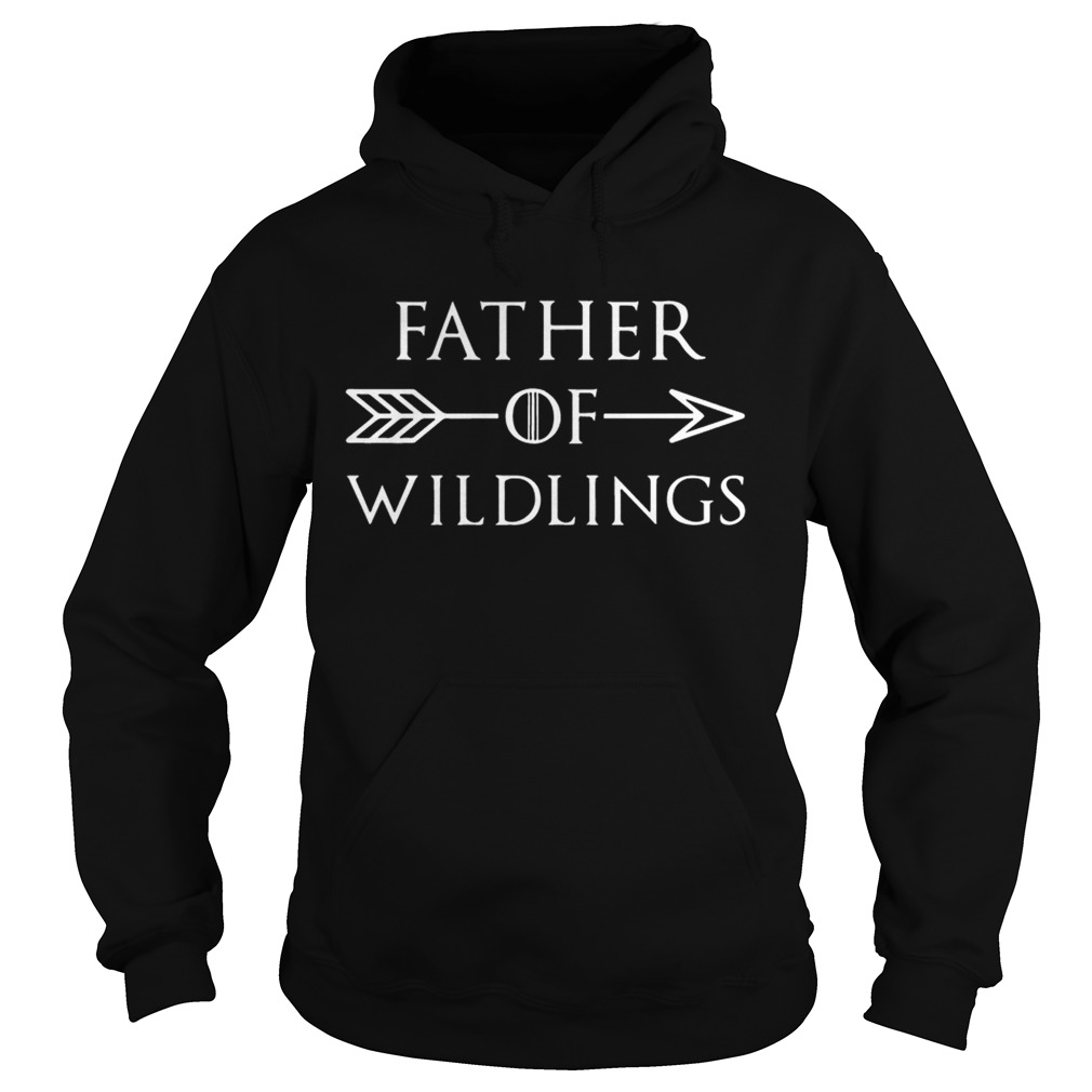 Fathers Day Gift T Dad Of Wildlings Personalization Kids Names t Hoodie