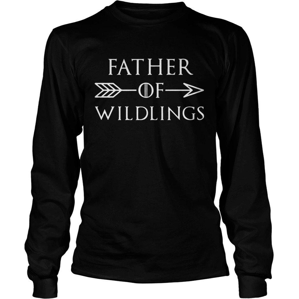 Fathers Day Gift T Dad Of Wildlings Personalization Kids Names t LongSleeve