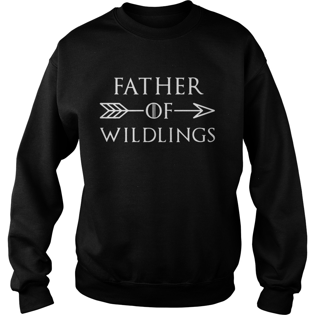 Fathers Day Gift T Dad Of Wildlings Personalization Kids Names t Sweatshirt