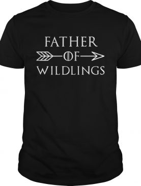 Fathers Day Gift Tshirt Dad Of Wildlings Personalization Kids Names t shirt