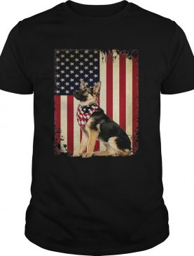 German shepherd America flag shirt
