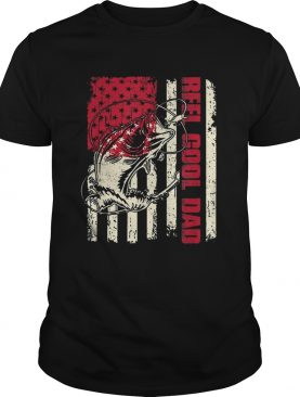 Awesome Reel Cool Dad Fathers Day American Flag shirt