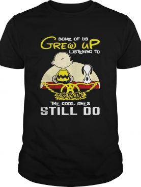 Some Of Us Grew Up Listening To Aerosmith SnoopyPeanut TShirt