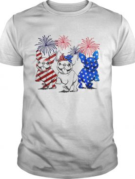 Independence day 4th of July French bulldog beauty America flag shirt
