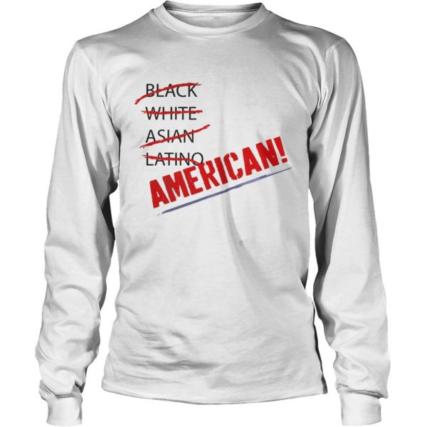 Joy Villa Black White Asian Latino American Shirt LongSleeve