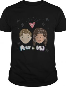 Marvel Spiderman Far From Home Peter And Mj Love Premium Shirt