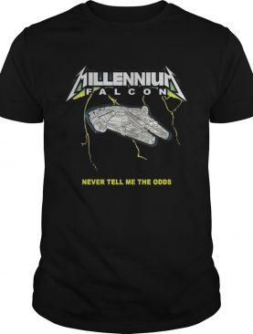 Millennium Falcon Metallica Never tell me the odds shirt