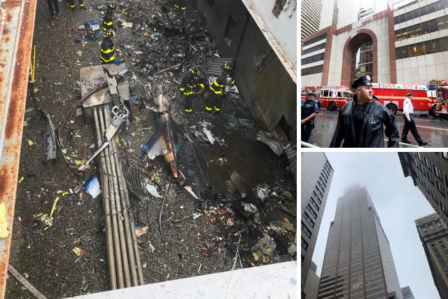 'No nexus to terror': Helicopter crashes onto roof of New York City high rise; pilot dead
