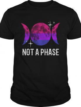 Not A Phase Bisexual Flag Lgbt Bi Gay Pride Moon Premium Tshirt