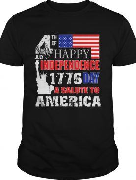 Original A Salute To America 4th Of July Independence Day Tee Shirt