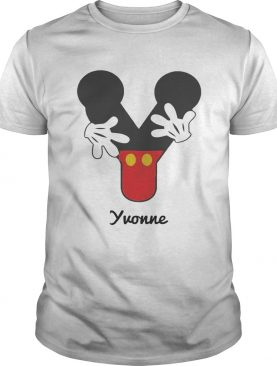 Personalized Name Y Begins Mickey Hat Funny TShirt
