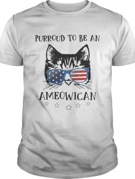 Purroud to be an Ameowican American flag shirt