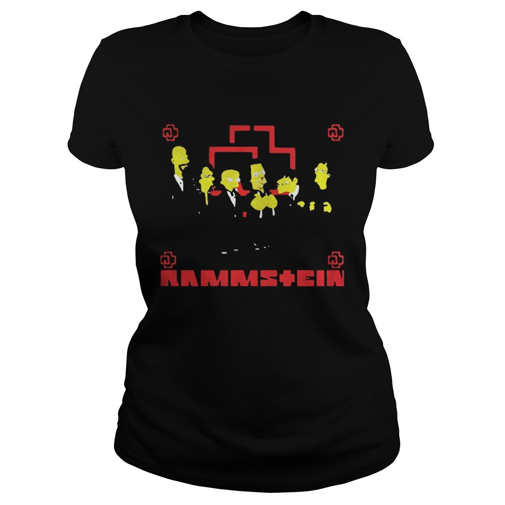 Rammstein Get The Simpsons Treatment Shirt Classic Ladies